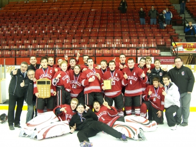 Victory for the St. Charles Boys' Hockey Team