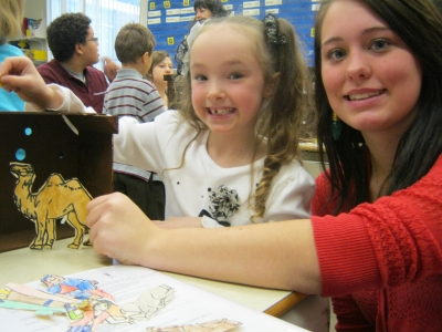 St. Bernadette and St. Charles College Partner for Very Special Project