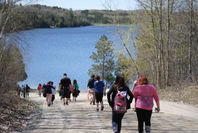 Sudbury Catholic Students Participate in a Water Walk