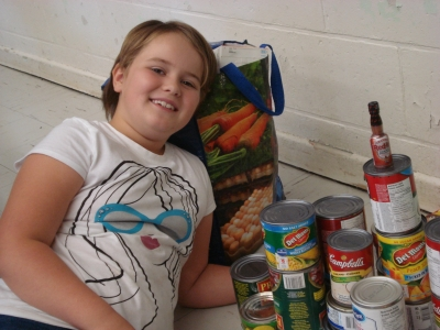 St. Raphael Student Supports S.C.C. Annual Food Drive Challenge