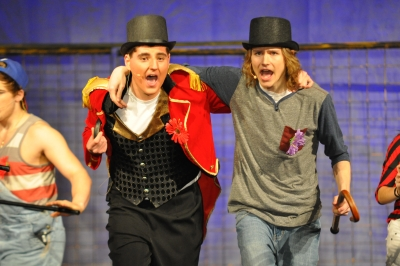 Funky costumes, make-up and theatrics make Godspell a must-see this week at SCC