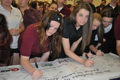 Taking the Pledge at St. Charles College