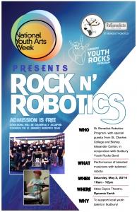 NATIONAL YOUTH ARTS WEEK: ROCK N' ROBOTICS EVENT