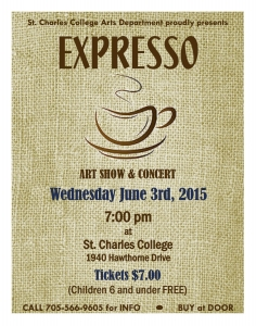 St. Charles College Presents: Expresso – Art Show and Concert – June 3, 2015