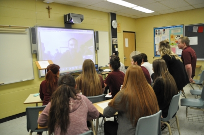 """Cultural Skyping with """"Mr. Tim"""" and Students in Egypt"""