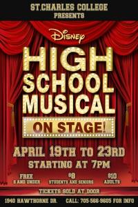 SCC Presenting: High Schol Musical – April 19-23