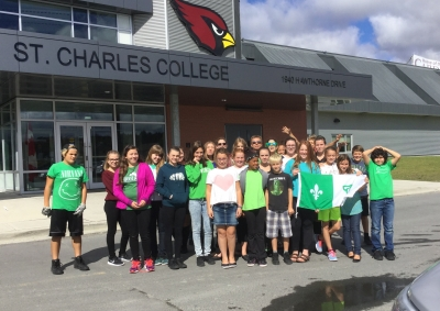 Colour Crusade gets a little green and white at St. Charles College