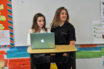 Students' in Mrs. Bock's Language Arts class at St. Charles College Elementary were Skyping today.
