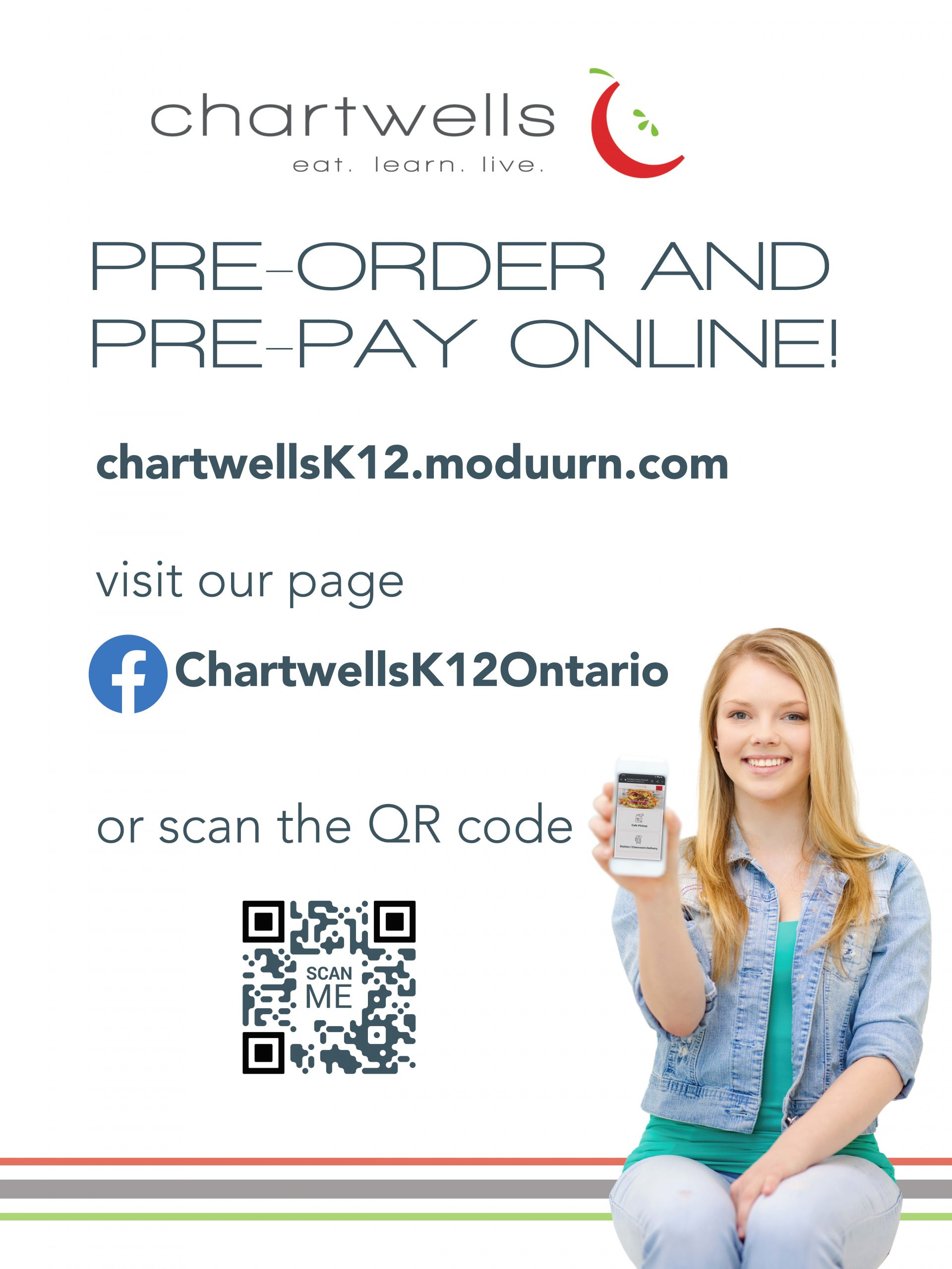 Pre-Order and Pre-Pay Online with Chartwells!